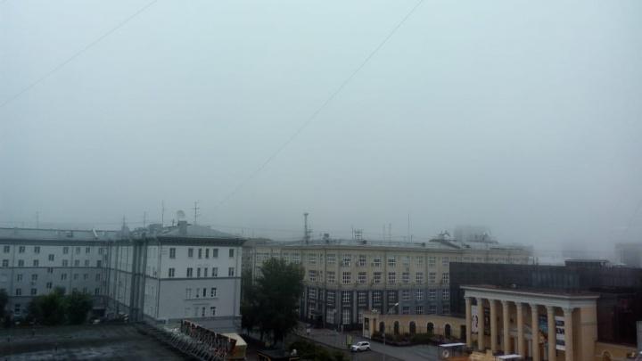 Фото: Новосибирск спрятался за июльским туманом