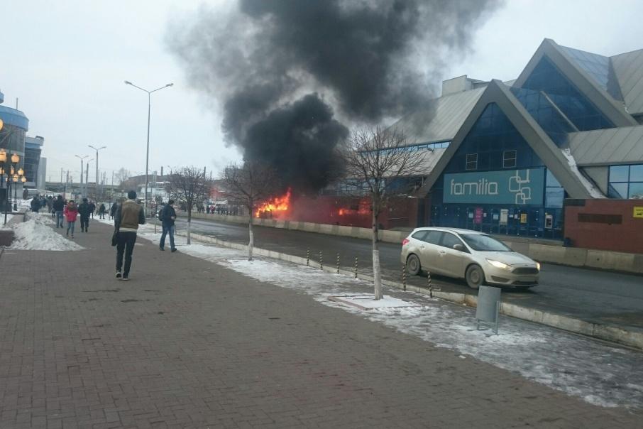 Пожар произошел около 7:16
