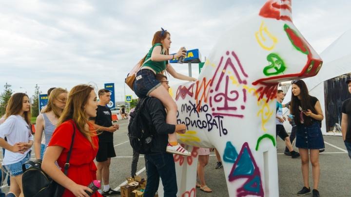 Раскрашивание белого коня, баттлы, проливной дождь иThomas Mraz: как прошел Mega Urban Fest