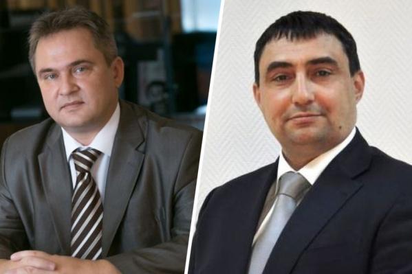 Руководитель красноярского Пенсионного фонда Павел Майборода и его заместитель Алексей Трофимов