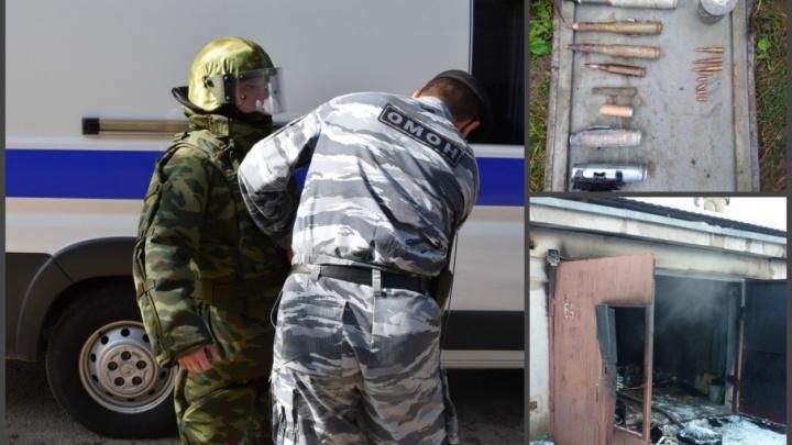 В Башкирии после пожара в гараже нашли боеприпасы