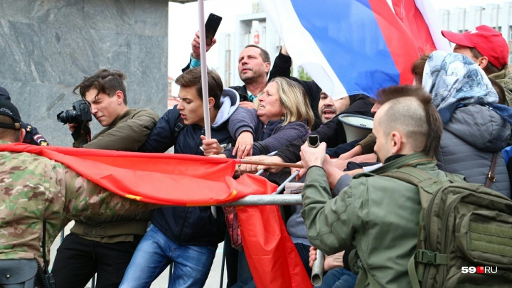 На акции против пенсионной реформы в Перми задержали полтора десятка человек