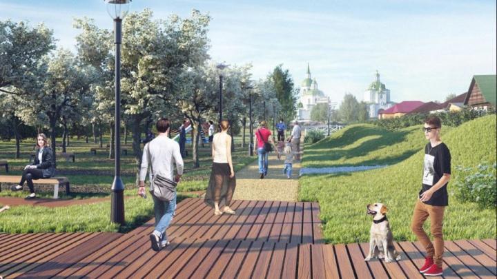 В Енисейске планируют разбить новый сквер с ручьем за 50 миллионов рублей