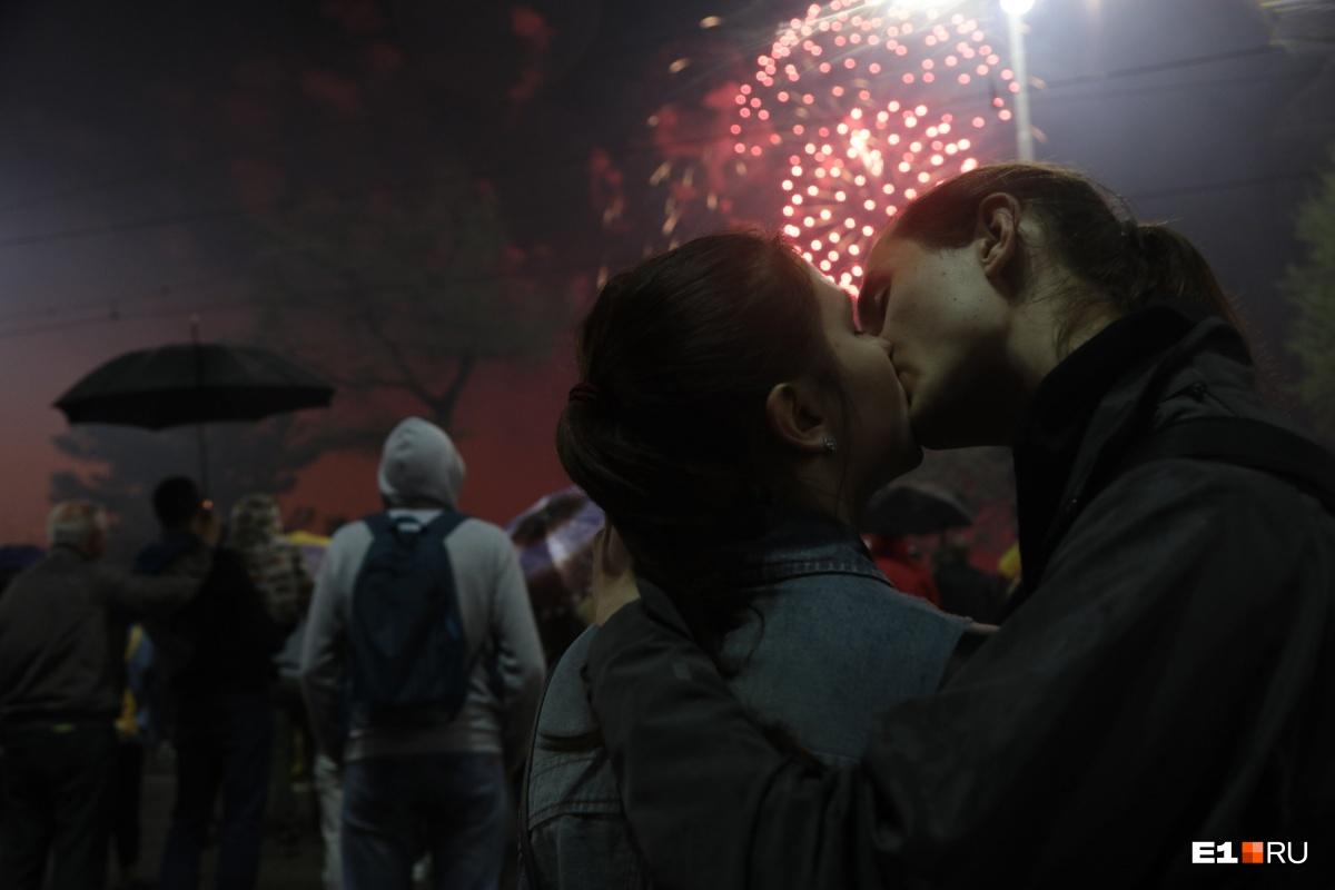 Красивый у пары получился поцелуй