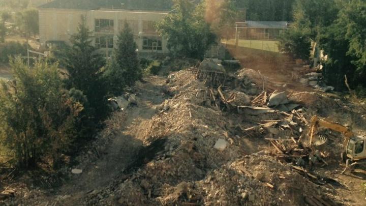 «Обрекли на гибель»: на улице Ткачева старые ели засыпали строительным мусором