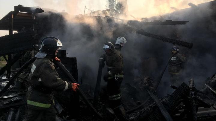 Отец и двое маленьких детей погибли в пожаре под Новосибирском