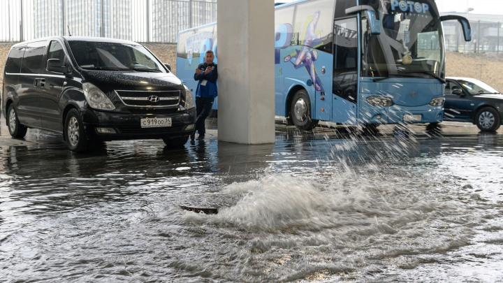 «Организуем оперативный штаб»: в Волгограде остановились троллейбусы и размок стадион