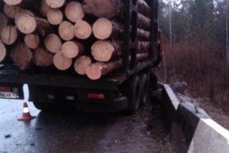 Бревна с лесовоза упали на мужчину, причинив смертельные травмы