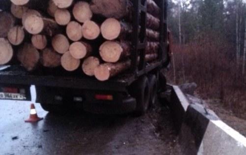 Рабочего завалило бревнами с лесовоза