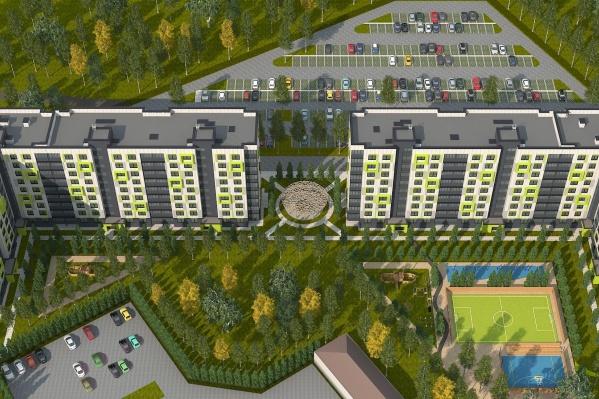 В домах будут одно-, двух-, трёх- и четырёхкомнатные квартиры