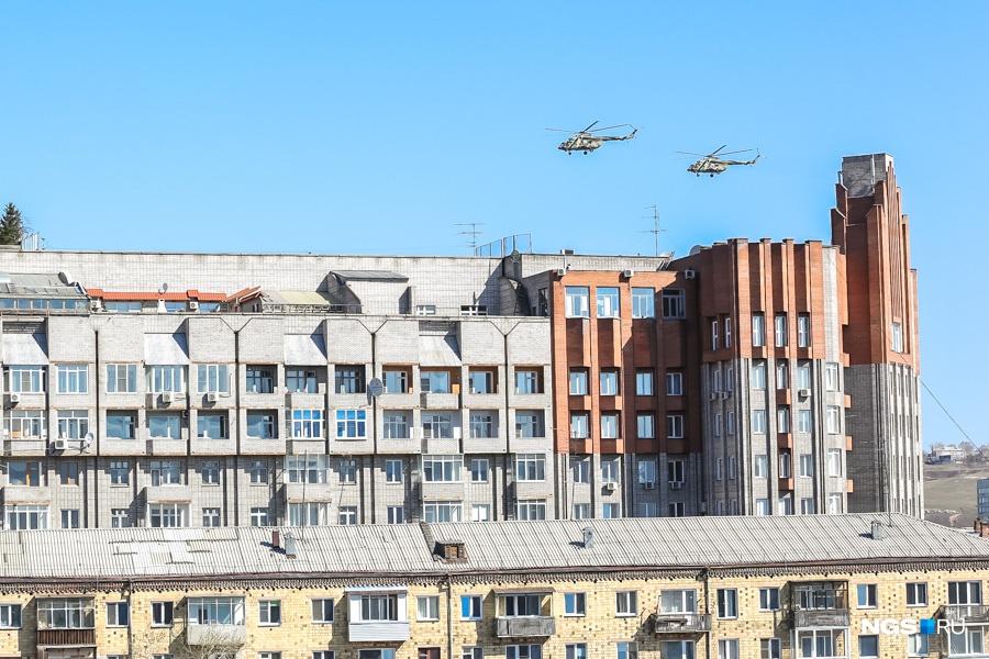 Экипажи ВВС потренируются над Красноярском