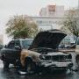 В сгоревшей на улице Герцена машине нашли тело мужчины