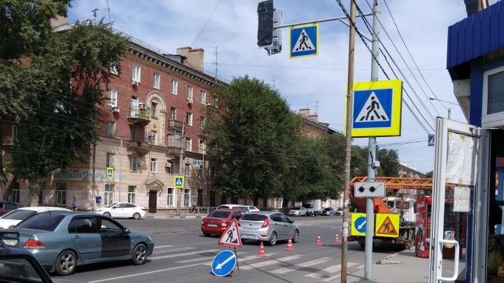 На пересечении Победы и Пугачевской в Самаре установили новый светофор