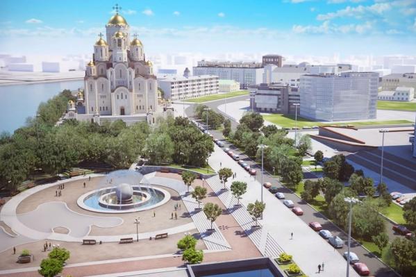 Если храм построят по нынешнему проекту, то от сквера ничего не останется, уверены архитекторы<br>