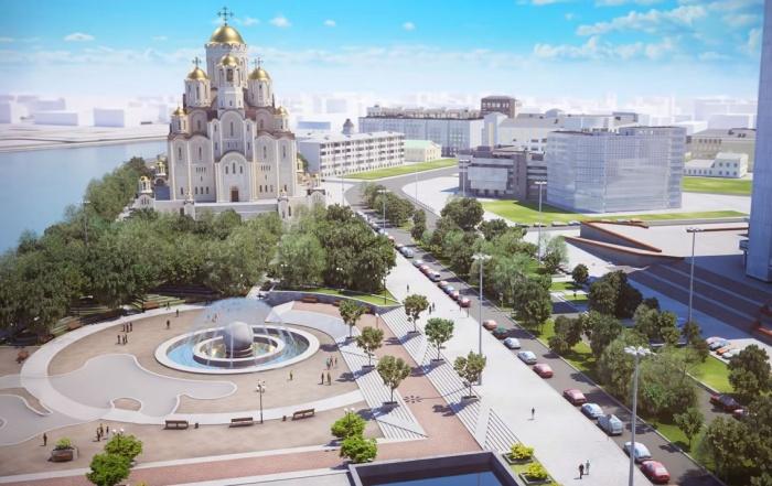 Если храм построят по нынешнему проекту, то от сквера ничего не останется, уверены архитекторы