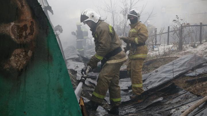 В Башкирии мужчина заживо сгорел в пожаре