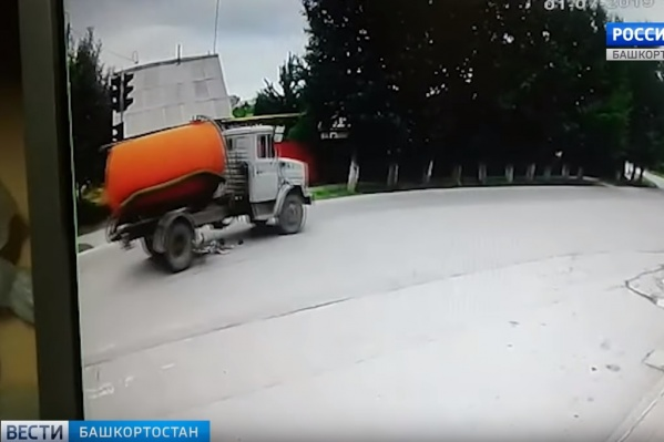 Водитель не успел остановить грузовик