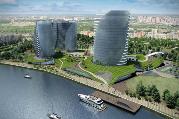Проект называется «Газпромовские бизнес-башни в Тюмени». Тюменцы предполагают, что он будет реализован по соседству с аквапарком