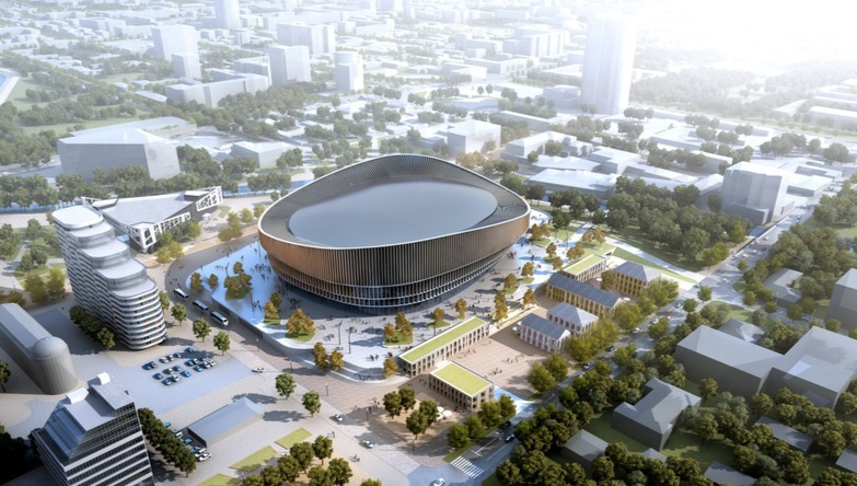 Один из эскизов арены