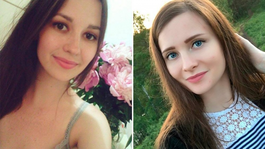 Наташа (слева) и Ксюша (справа)