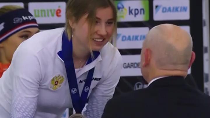 Челябинская конькобежка Ольга Фаткулина завоевала третью медаль на чемпионате мира в США