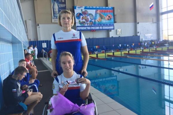 Мария Удачина два года подряд входит в юношескую сборную России по параплаванию