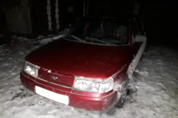 Машина, на которой сбили пешехода, была припаркована во дворе задержанного