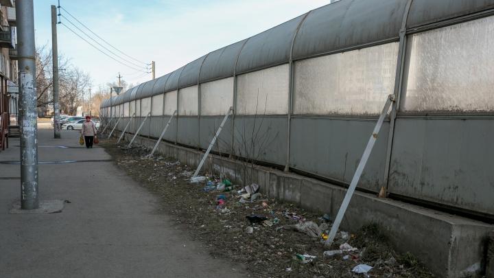 Три улицы Красноярска решили оградить от шума огромными экранами