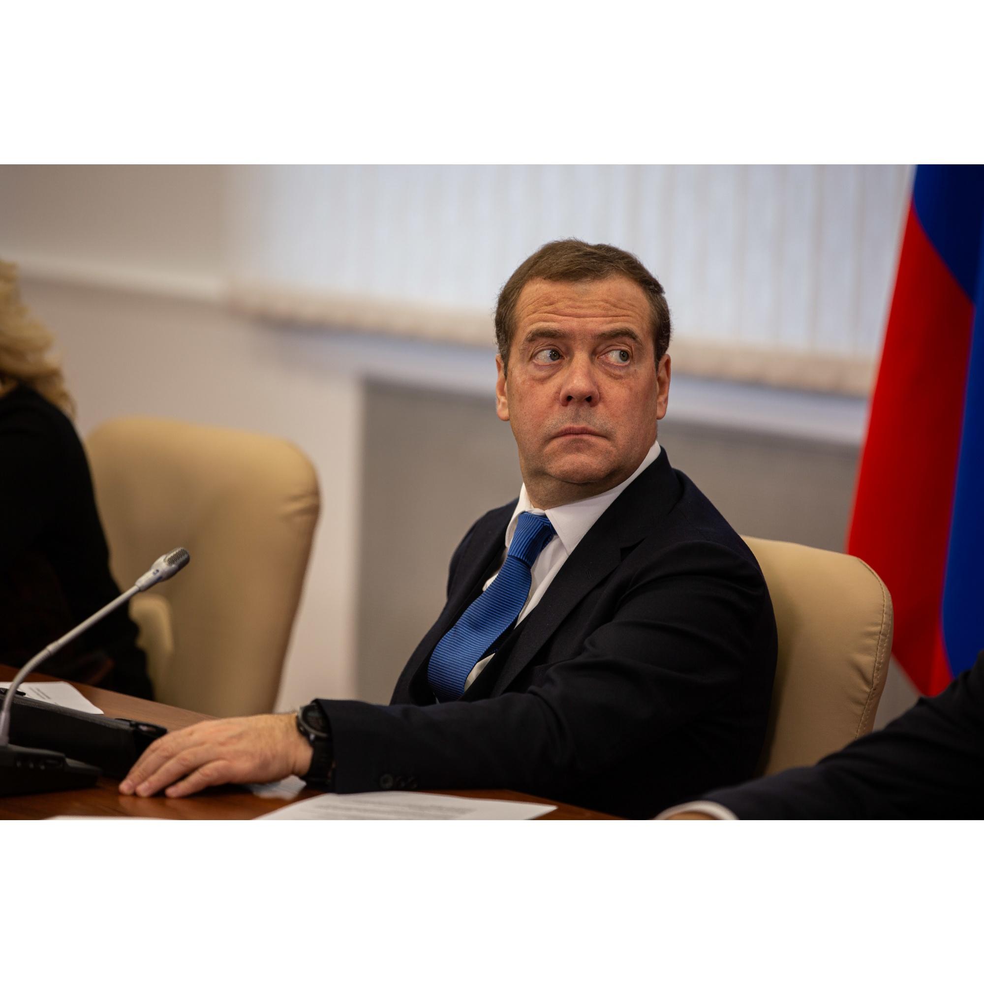 В день визита Медведева
