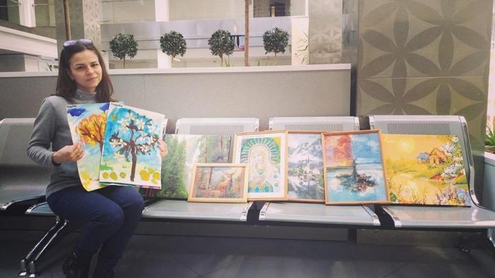 Детский дом подарил онкоцентру первые картины. Можно приносить еще