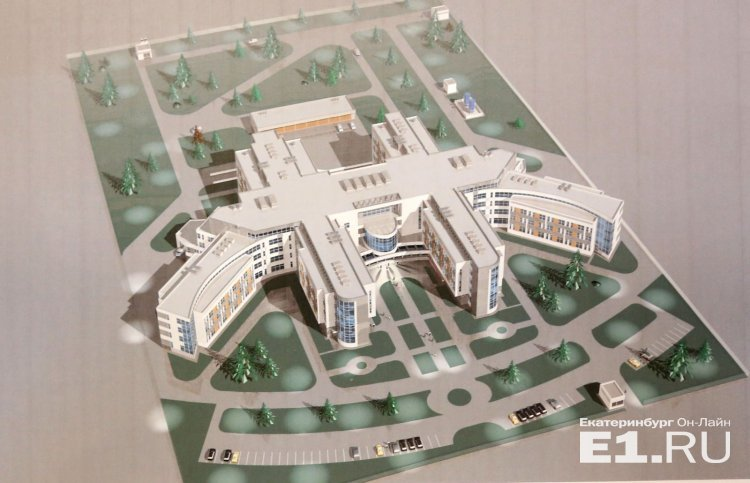Эскиз нового здания НИИ ОММ