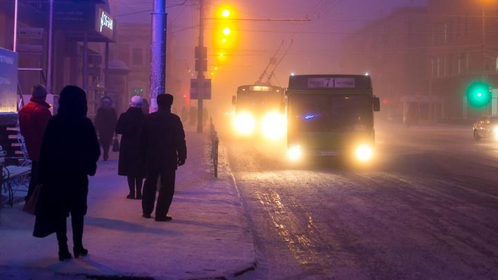 Названы самые холодные маршруты автобусов