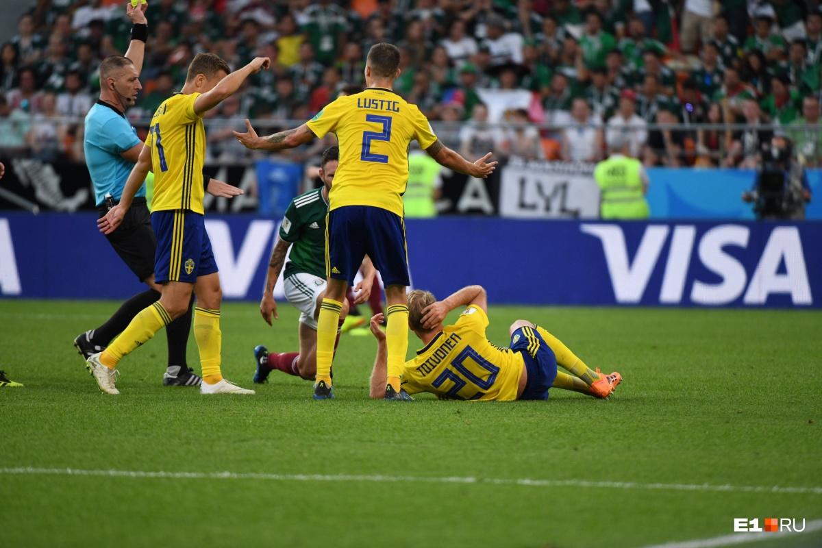 Последний матч группового этапа шведы сыграли в Екатеринбурге