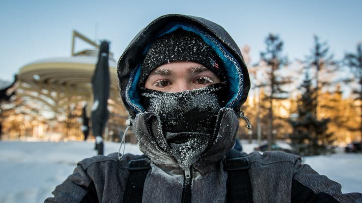 Холод задержится надолго: Новосибирск застыл в сильных морозах