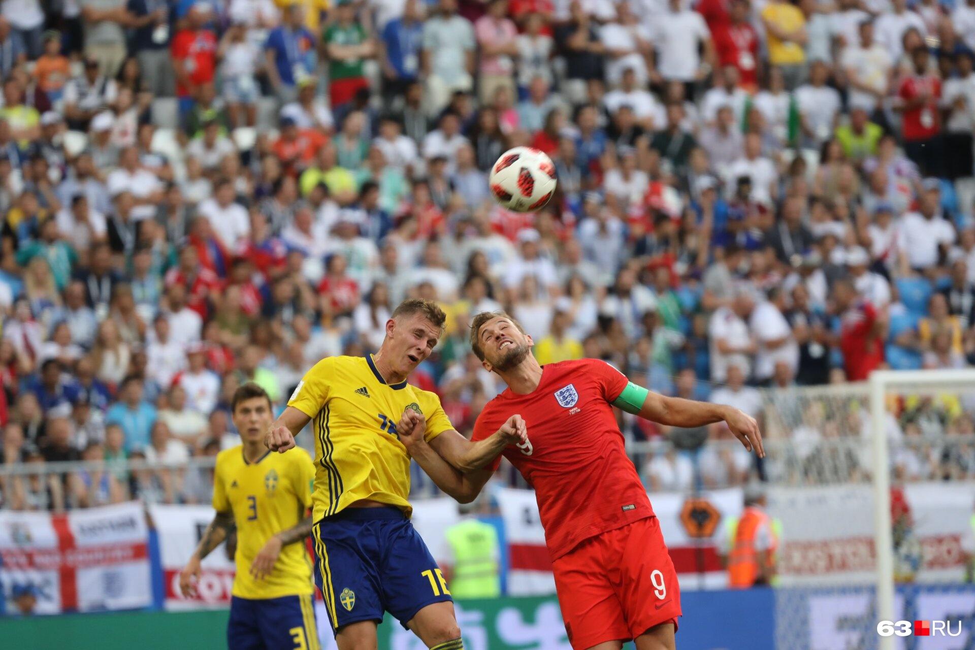 Капитан «львов» Гарри Кейн больше боролся за мяч, чем бил по воротам