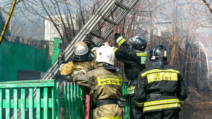 Полицейский вынес пса из горящего дома в Лесосибирске