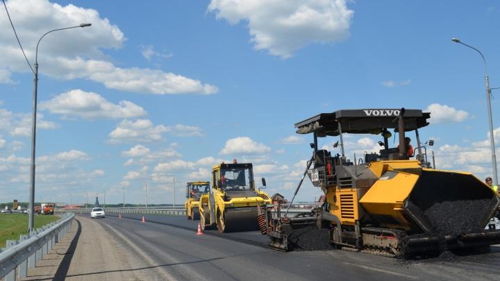 На обходе Красноярска начали ремонтировать федеральную трассу