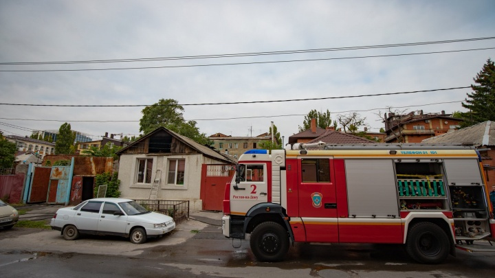 На Дону сгорел частный дом: есть жертвы