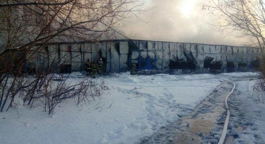 Пожар на обувной фабрике случился 4 января 2018 года