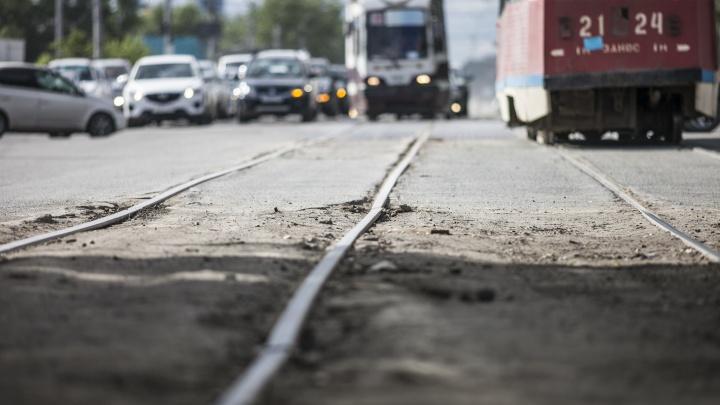 Движение трамваев на проспекте Дзержинского закроют на выходные