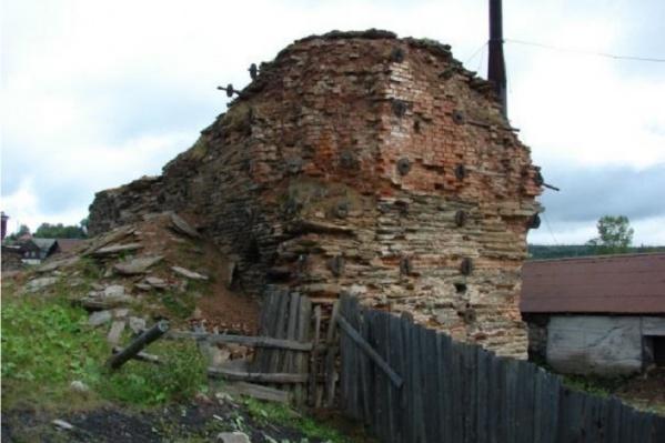 Так выглядела руина доменной печи
