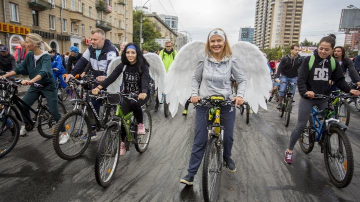 Дайте дорогу: сотни новосибирцев поехали на велосипедах по перекрытым улицам