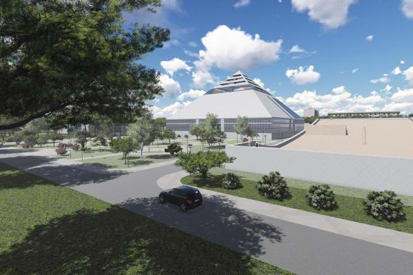 Площадь необычного пятиугольного здания составит более 9 тысяч кв. м