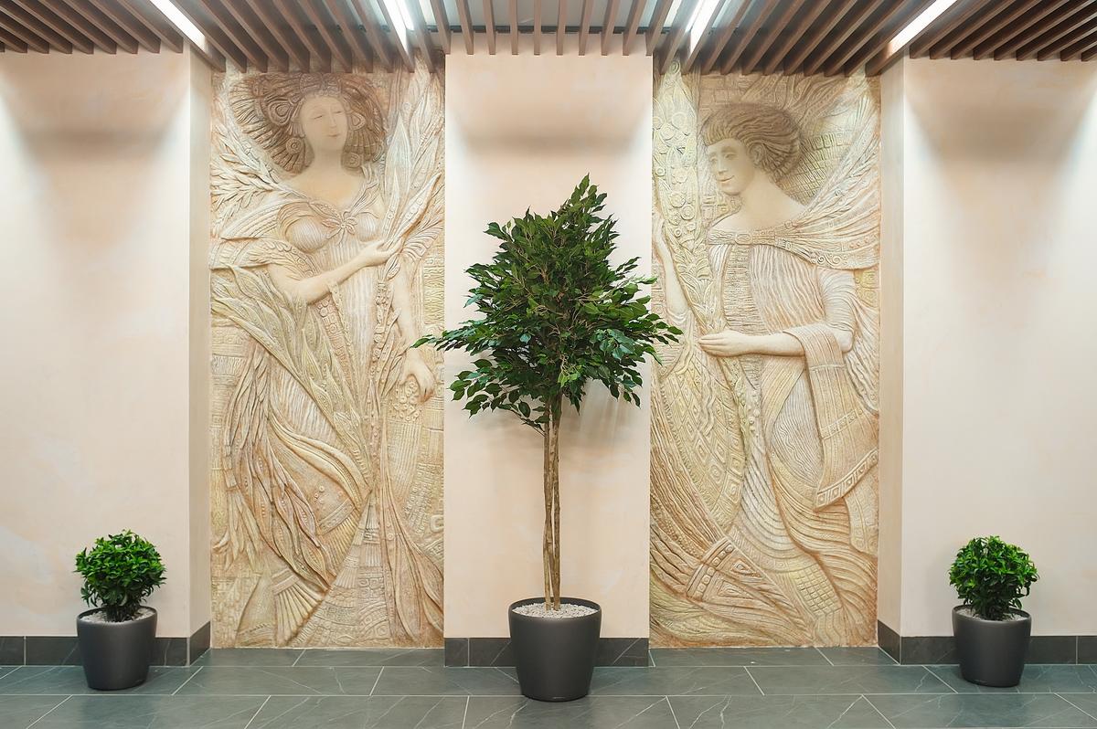 Декоративные панно дизайнеры создали специально для ЖК «Уральский»