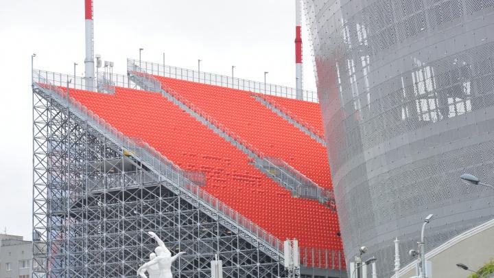 Временные трибуны с «Екатеринбург Арены» установят на стадионе в Ирбите