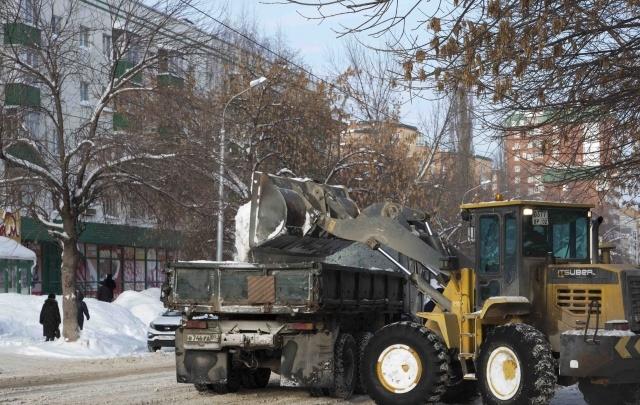 В каких дворах почистят снег в Уфе