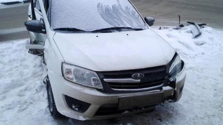 В Перми при столкновении двух легковушек пострадала женщина