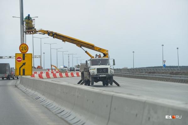 До 31 декабря часть развязки ЕКАД — Кольцовский тракт будет закрыта