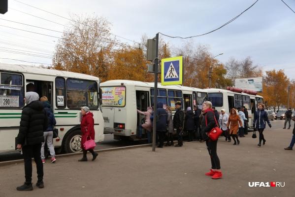 Отсутствие автобусов ощутили только жители севера Уфы