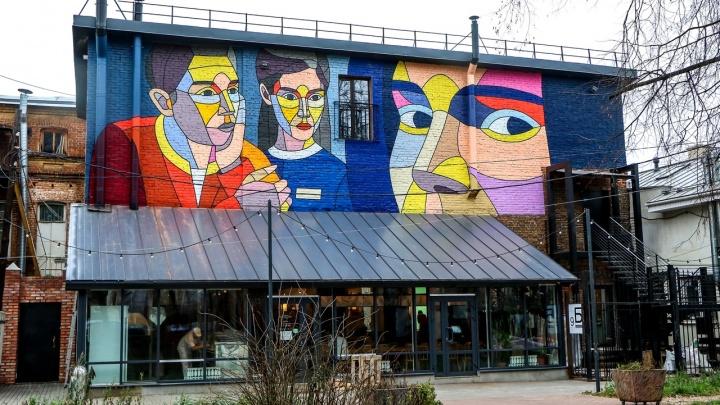 Известный уличный художник из Москвы создал масштабное граффити в центре Нижнего Новгорода